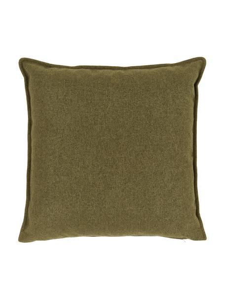Cuscino arredo verde Lennon, Rivestimento: 100% poliestere, Verde, Larg. 60 x Lung. 60 cm