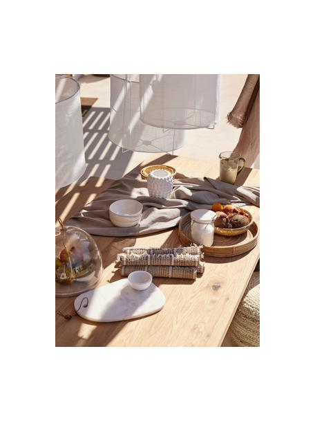 Eettafel Oliver met massief houten blad, Tafelblad: geolied massief wild eike, Poten: gepoedercoat metaalkleuri, Wild eiken, zwart, 140 x 90 cm
