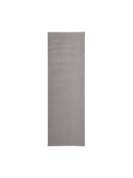 Wollen loper Ida in grijs, Bovenzijde: 100% wol, Onderzijde: 60% jute, 40% polyester B, Grijs, 80 x 250 cm