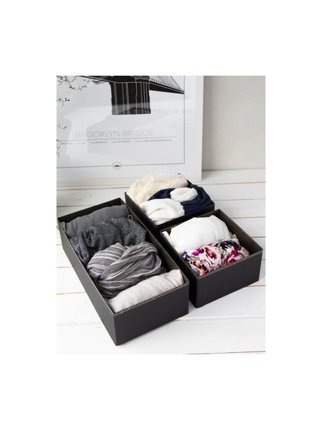 Organizador Drawer, Cartón laminado macizo, Dorado, gris oscuro, An 36 x Al 10 cm