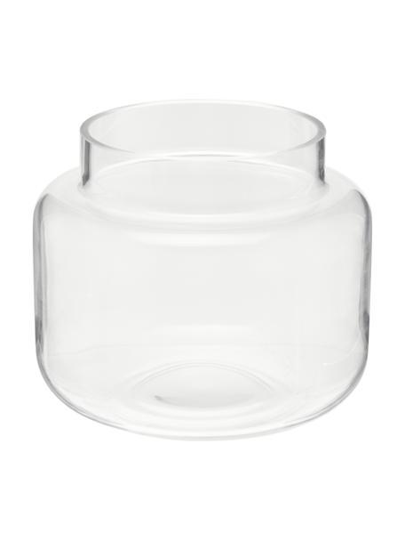 Jarrón mediano de vidrio Lasse, Vidrio, Transparente, Ø 16 x Al 14 cm