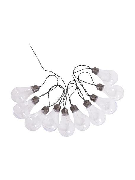 Solar lichtslinger Martin, 300 cm, 10 lampions, Lampenkap: kunststof, Lampenkappen: transparant met splintereffect Lampfitting: nikkel, L 300 cm