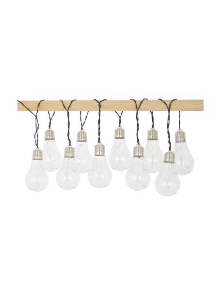 Guirnalda solar de luces LED Martin, 300cm, 10 luces, Cable: plástico, Transparente, níquel, L 300 cm