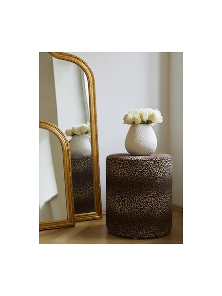 Vaso decorativo fatto a mano Wendy, Ceramica, Bianco crema opaco, Ø 19 x Alt. 20 cm