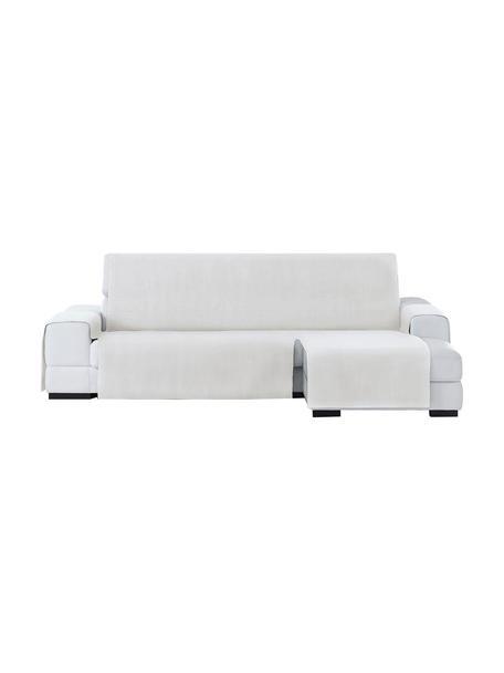 Narzuta na sofę narożną Levante, 65% bawełna, 35% poliester, Odcienie kremowego, S 150 x D 240 cm