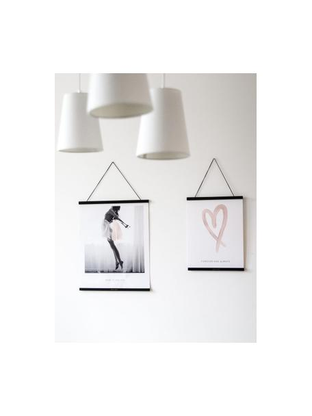 Magnetische posterlijst Hanga, Gelakt hout, Zwart, goudkleurig, 40 x 50 cm