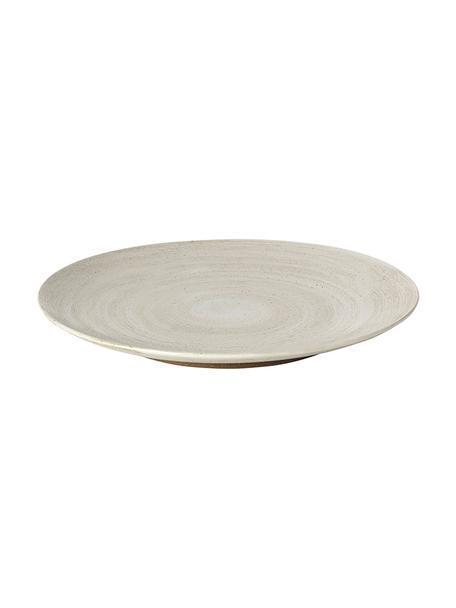 Steingut-Speiseteller Grød, 4 Stück, Steingut, Beige, Ø 29 cm