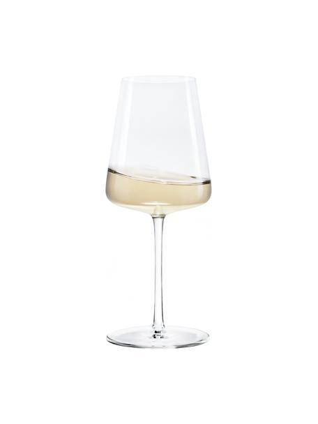 Copas de vino blanco de cristal Power, 6uds., Cristal, Transparente, Ø 9 x Al 21 cm