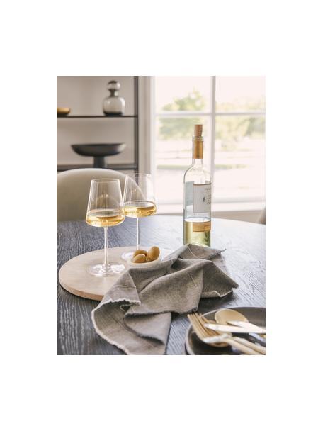 Kieliszek do białego wina ze szkła kryształowego Power, 6 szt., Szkło kryształowe, Transparentny, Ø 9 x W 21 cm