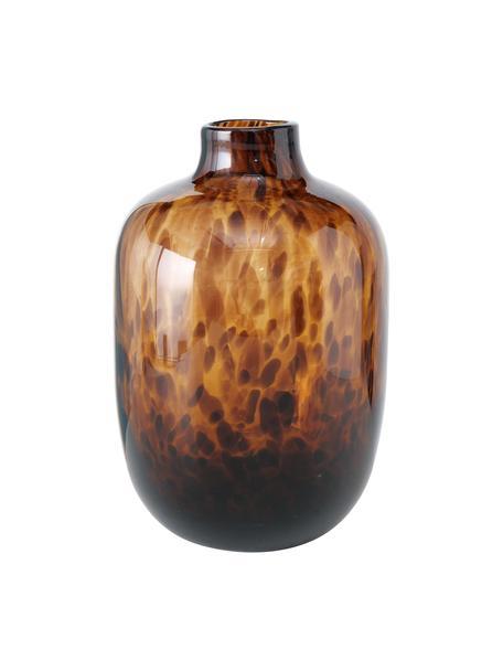 Vaso in vetro Leopard, Vetro, Tonalità marroni, Ø 16 x Alt. 25 cm