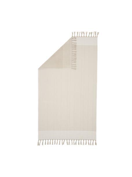 Ręcznik plażowy Freddy, Beżowy, S 100 x D 180 cm
