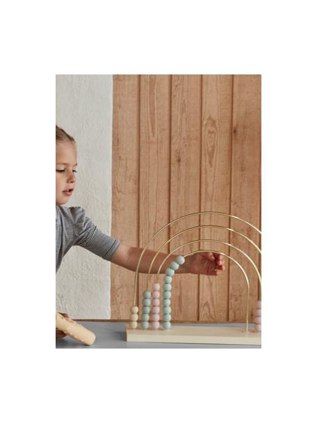 Abacus Rainbow, Madera de roble recubierta Metal pintado, Madera, azul, verde, rosa, amarillo, An 36 x Al 29 cm