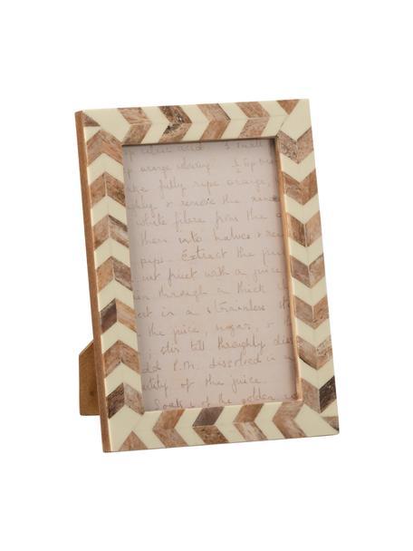 Portafoto da tavolo Lima, Legno, corno, Beige, marrone chiaro, 10 x 15 cm