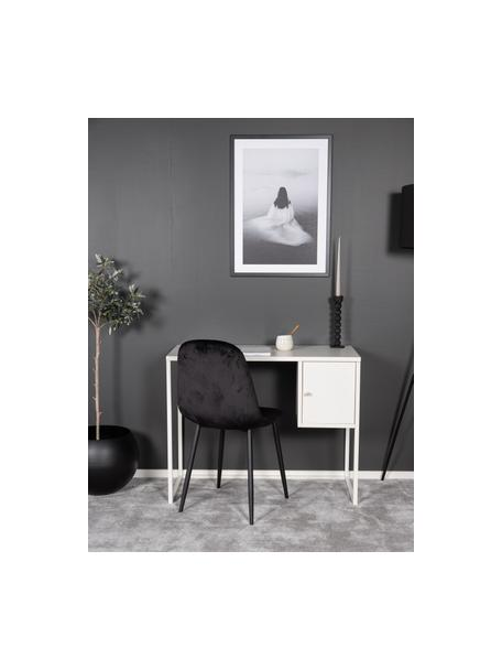 Wąskie biurko Bakal, Stal powlekana, Biały, S 95 x G 45 cm