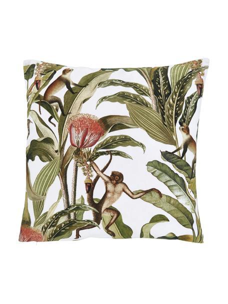 Federa arredo con motivo tropicale Monkey, 100% cotone, Verde, Larg. 45 x Lung. 45 cm