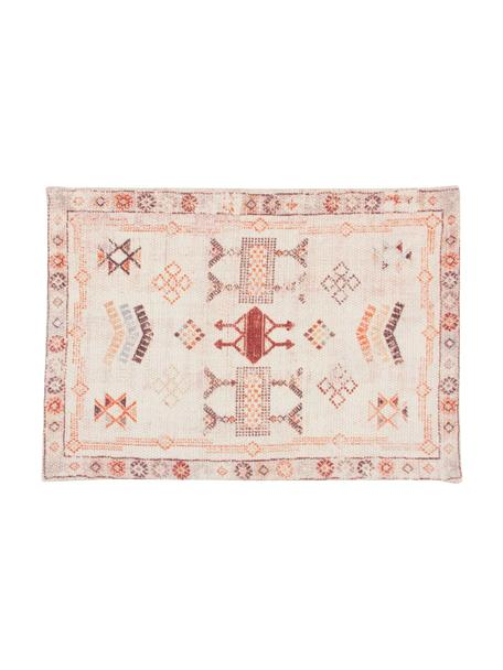 Placemat Tanger met ethnopatroon, 100% katoen, Beige, roodtinten, 35 x 50 cm
