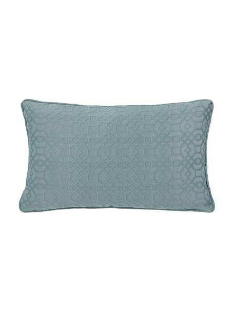 Federa arredo blu Feliz, 60% cotone, 40% poliestere, Blu marino, Larg. 30 x Lung. 50 cm