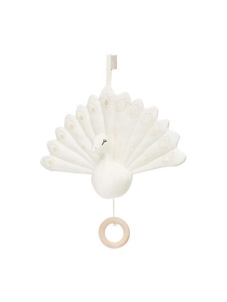 Sonajero colgante de algodón ecológico Peacock, Exterior: 100% algodón ecológico, c, Crema, An 18 x Al 24 cm
