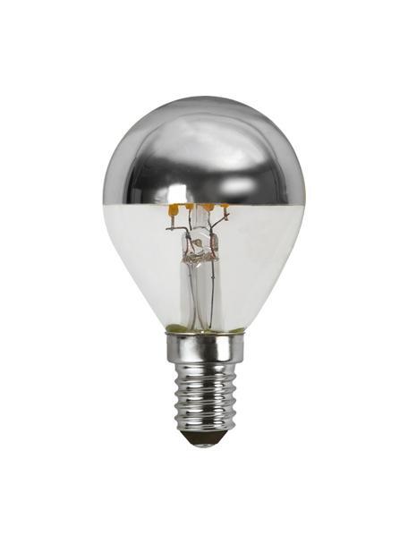 Bombillas regulables E14, 3.5W, blanco cálido, 2uds., Ampolla: vidrio, Casquillo: aluminio, Plateado, transparente, Ø 5 x Al 8 cm
