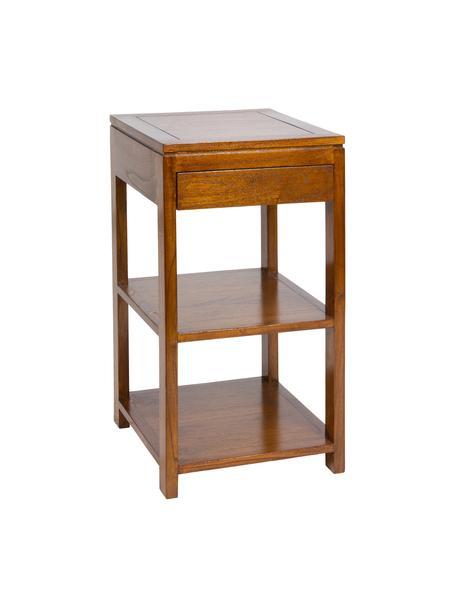 Tavolino Frank, Legno di mindi verniciato, Marrone, Larg. 45 x Prof. 40 cm