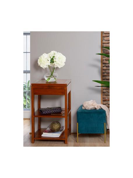 Stolik pomocniczy Frank, Drewno mindi, bejcowane, Brązowy, S 45 x G 40 cm