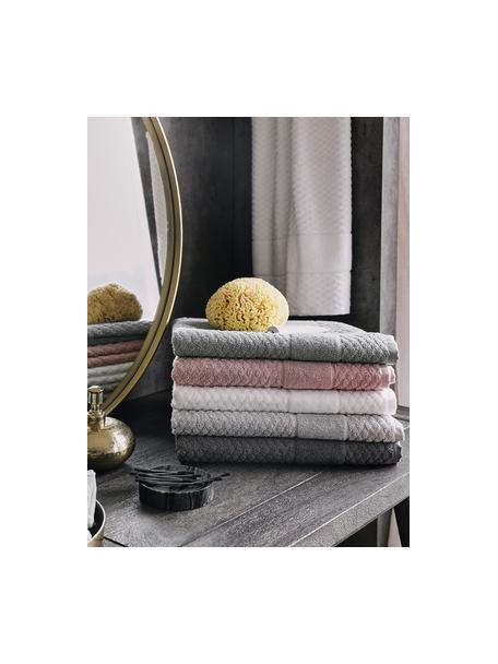 Badvorleger Katharina in Grau, 100% Baumwolle, schwere Qualität, 900 g/m², Dunkelgrau, 50 x 70 cm