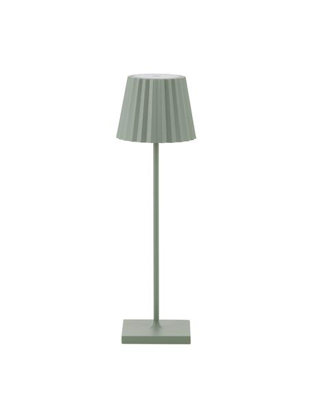 Mobilna lampa zewnętrzna z funkcją przyciemniania Trellia, Zielony, Ø 12 x W 38 cm