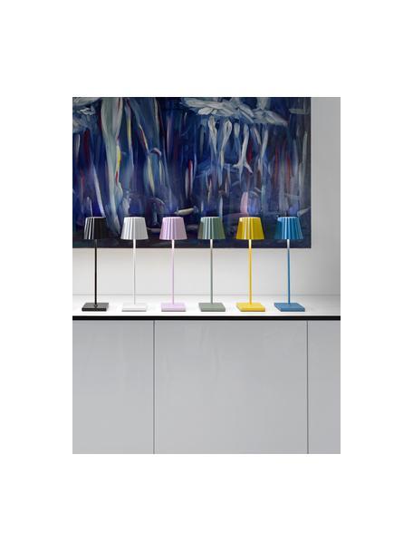 Zewnętrzna mobilna lampa stołowa z funkcją przyciemniania Trellia, Zielony, Ø 15 x W 38 cm