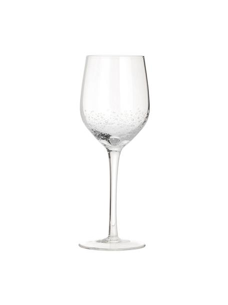 Mundgeblasene Weissweingläser Bubble mit dekorativen Luftbläschen, 4 Stück, Glas, mundgeblasen, Transparent mit Lufteinschlüssen, Ø 8 x H 21 cm