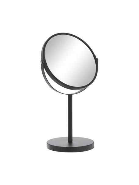 Make-up spiegel Classic met vergrootglas, Frame: gecoat metaal, Zwart, Ø 20 x H 35 cm