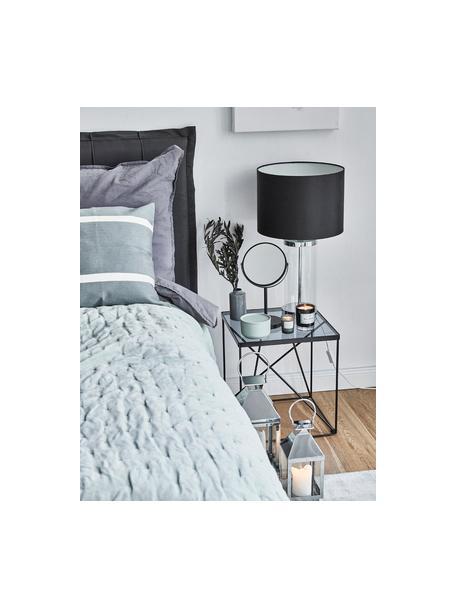 Make-upspiegel Classic met vergrootglas, Frame: metaal, Frame: zwart. Spiegelvlak: spiegelglas, Ø 20 x H 35 cm