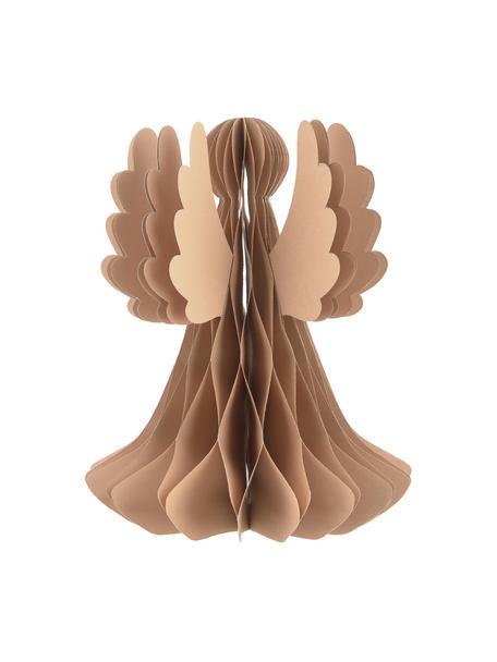 Dekoracja plisowana Angel, Papier, Beżowy, Ø 21 x W 27 cm