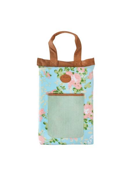 Kniematte Rose, Bezug: Polyester, Tasche: Jute, Mehrfarbig, 26 x 40 cm