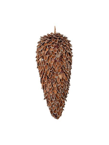 Ciondolo decorativo Phada, alt. 20 cm, Legno, Marrone, Ø 8 x Alt. 20 cm