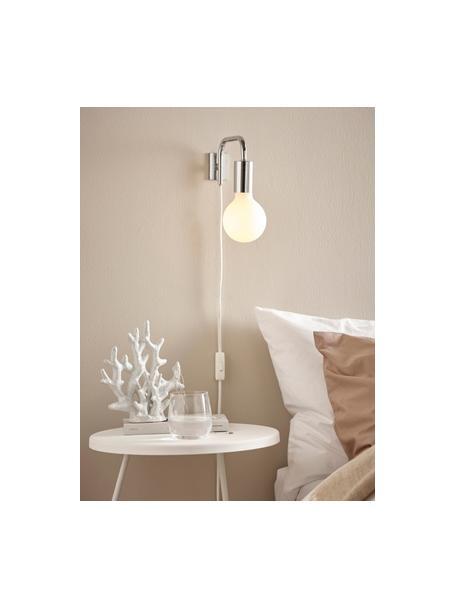 Wandlamp England met stekker, Frame: gelakt metaal, Metaalkleurig, 4 x 10 cm