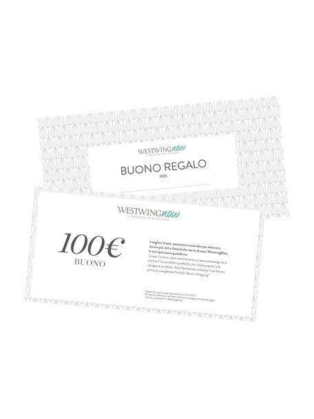 Buono regalo, Buono su carta fine, in una busta di alta qualità, Bianco, 100