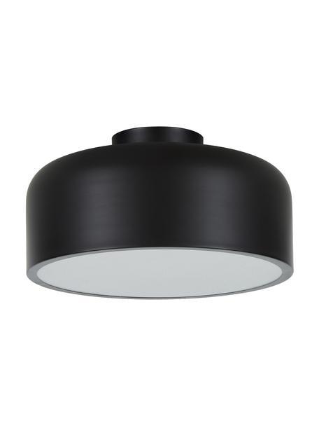 Plafón de metal Ole, Pantalla: metal con pintura en polv, Anclaje: metal con pintura en polv, Negro mate, Ø 35 x Al 18 cm