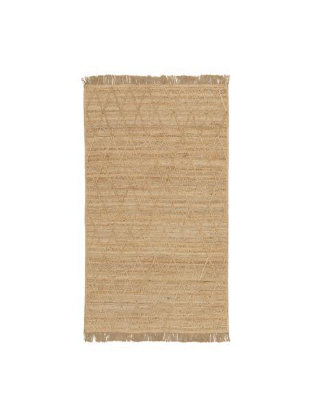 Alfombra artesanal de yute Jason, 100%yute, Beige, An 80 x L 150 cm (Tamaño XS)