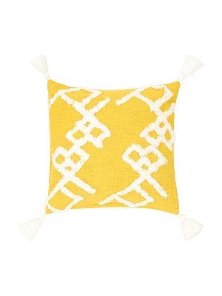 Poszewka na poduszkę Tikki, Bawełna, Żółty, S 40 x D 40 cm