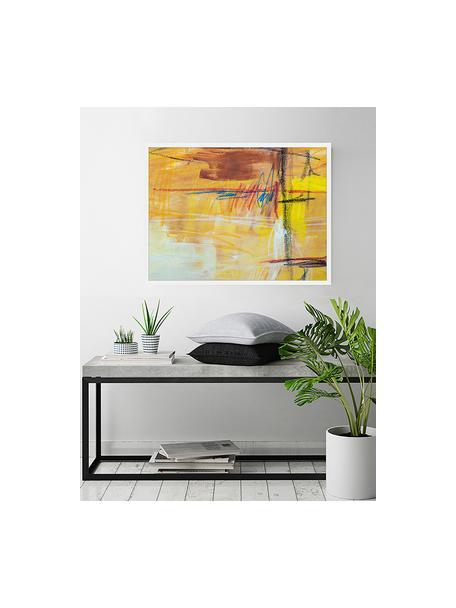 Ingelijste digitale print Abstract Art IV, Afbeelding: digitale print op papier,, Lijst: gelakt hout, Multicolour, 83 x 63 cm