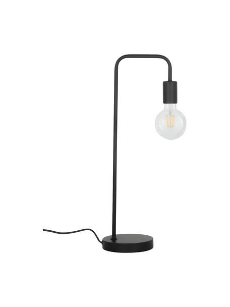 Lampada da tavolo in metallo nero Flow, Nero, nero, Larg. 22 x Alt. 56 cm