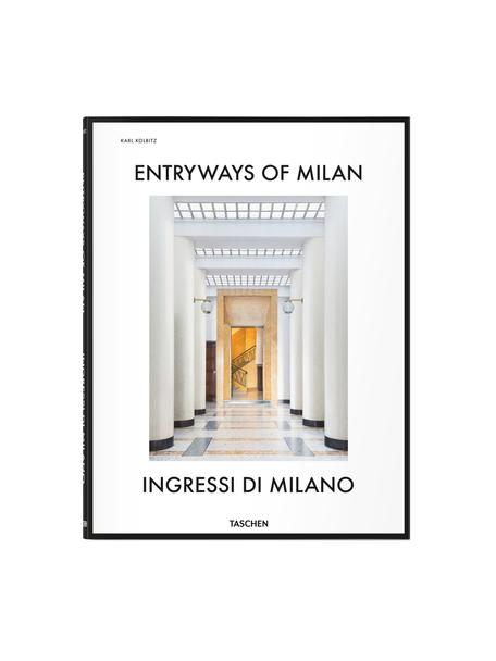 Geïllustreerd boek Entryways of Milan, Papier, hardcover, Wit, multicolour, 26 x 34 cm