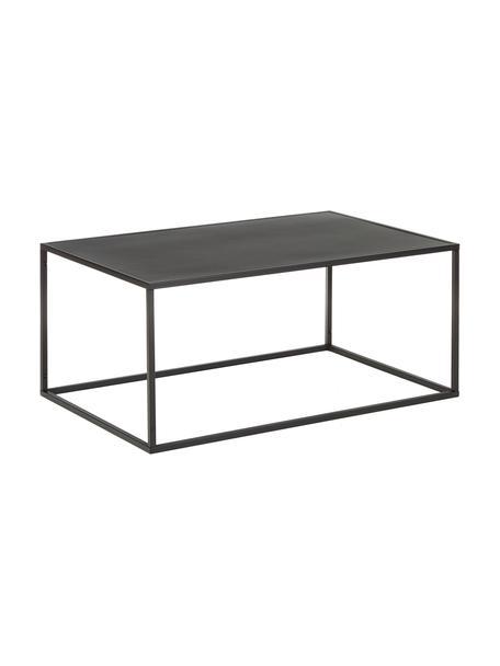 Tavolino da salotto in metallo nero Neptun, Metallo verniciato a polvere, Nero, Larg. 90 x Alt. 40 cm