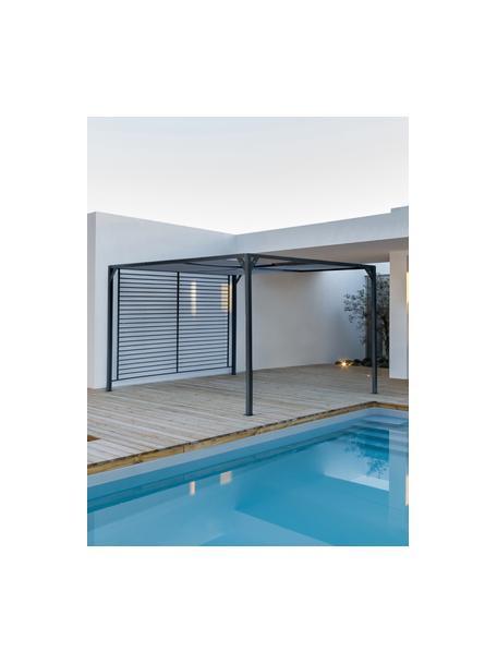 Gazebo con tetto scorrevole Noah, Struttura: alluminio verniciato a po, Grigio scuro, 360 x 210 cm