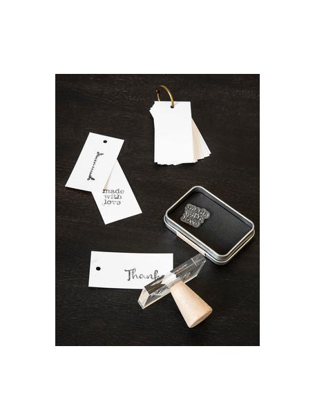 Set de estampillas para sellos Everyday, 24pzas., Silicona, Negro, transparente, An 14 x Al 21 cm