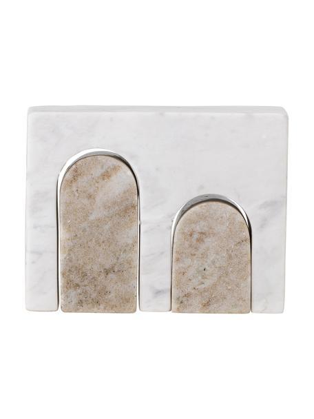 Dekoracja z marmuru Chul, Marmur, Biały, beżowy, S 17 x W 14 cm