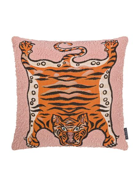Federa arredo Tigris, Rosa, arancione, nero, Larg. 45 x Lung. 45 cm