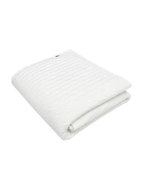 Bedsprei Tily met decoratieve stiksels, 100% polyester, Wit, B 180 x L 260 cm (voor bedden tot 140 x 200)