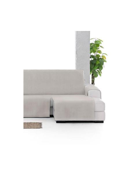 Copertura divano angolare Levante, 65% cotone, 35% poliestere, Verde grigio, Larg. 150 x Lung. 290 cm