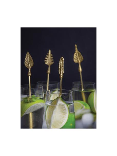 Cocktailstokjes Bar Craft in goudkleur, 4-delig, Gecoat metaal, Goudkleurig, L 20 cm